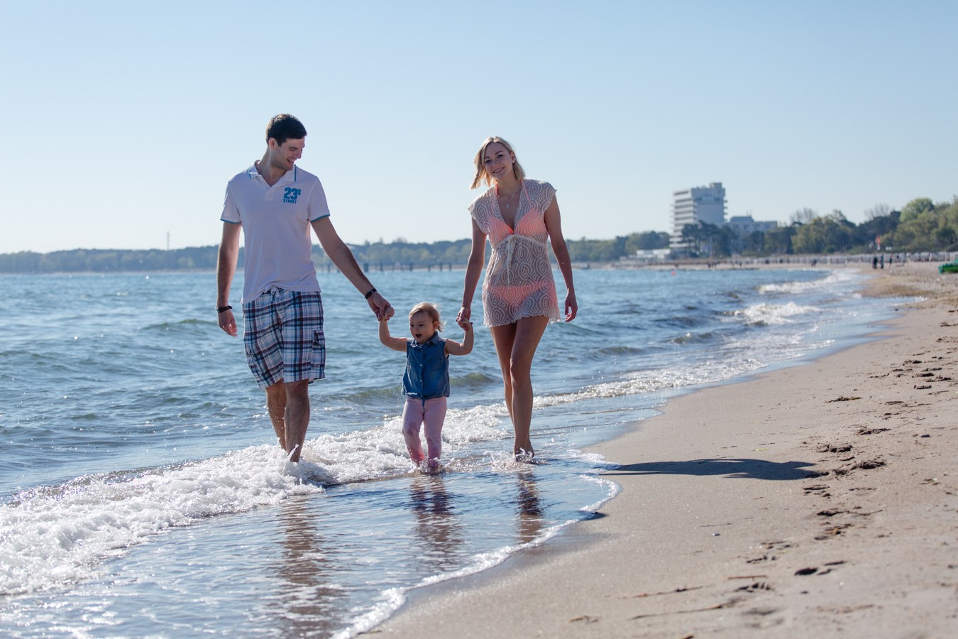 Familienshooting am Strand in Timmendorf