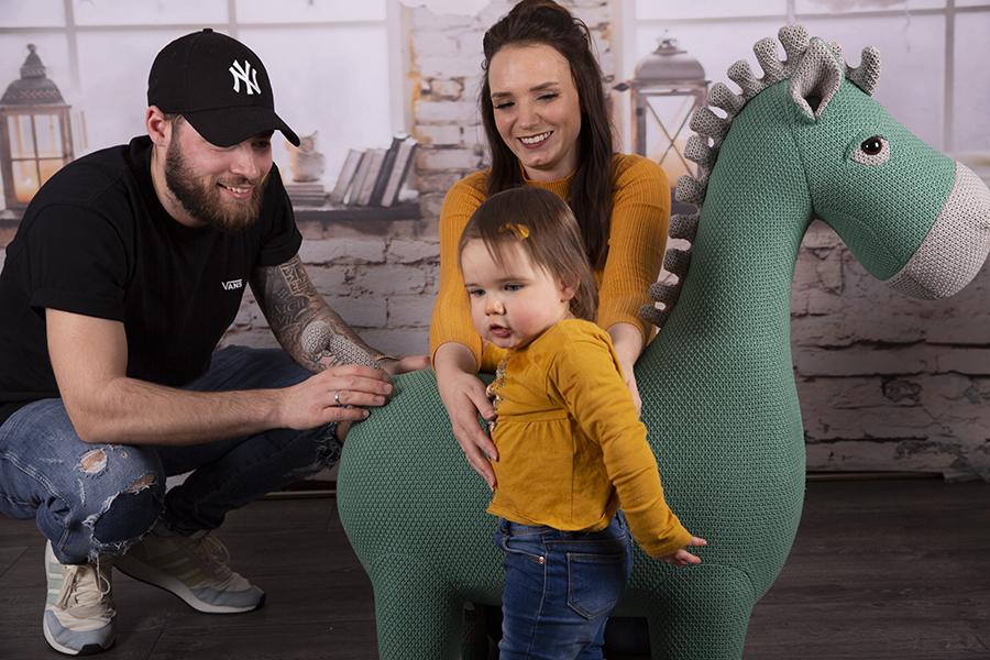 Familienshooting mit Kleinkind im Studio Kempen