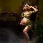 Schwangerschaft Fotoshooting im Wald in Kempen